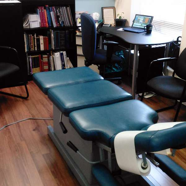 A patient room at SouthCare Chiropractic, Nanaimo BC